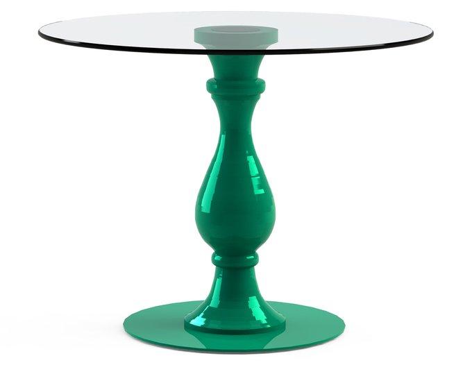 """Обеденный стол """"ADVENTUS Green"""" со столешницей из закаленного стекла"""