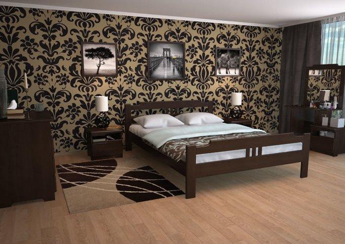 Кровать Бельфор бук-старая вишня 120х200