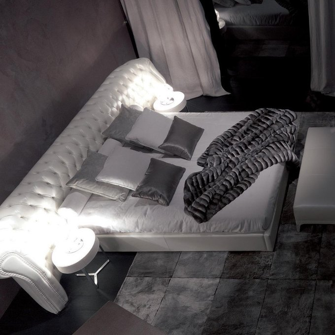 Кровать Alpha Omega бежевого цвета 160х200