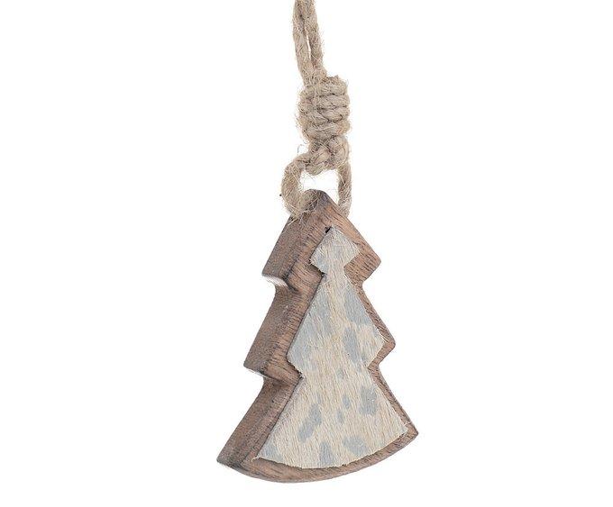 Новогоднее украшение елочка из дерева
