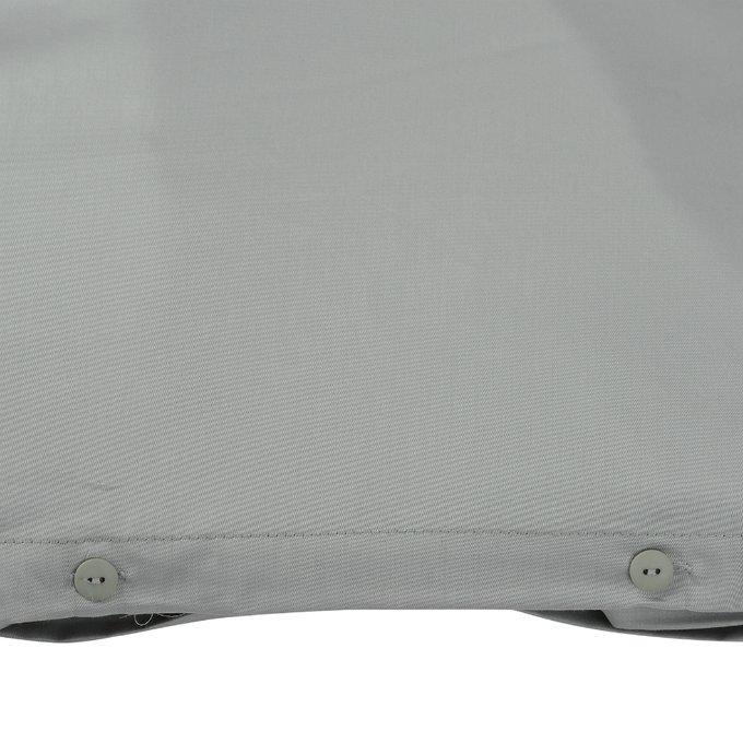 Комплект постельного белья Essential из сатина светло-серого цвета 200х210