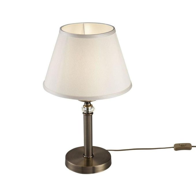 Настольная лампа Alessandra с абажуром кремового цвета