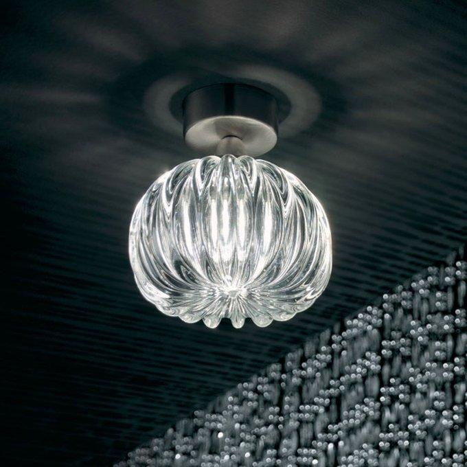 """Потолочный светильник Vistosi """"DIAMANTE"""" с плафоном из муранского стекла"""