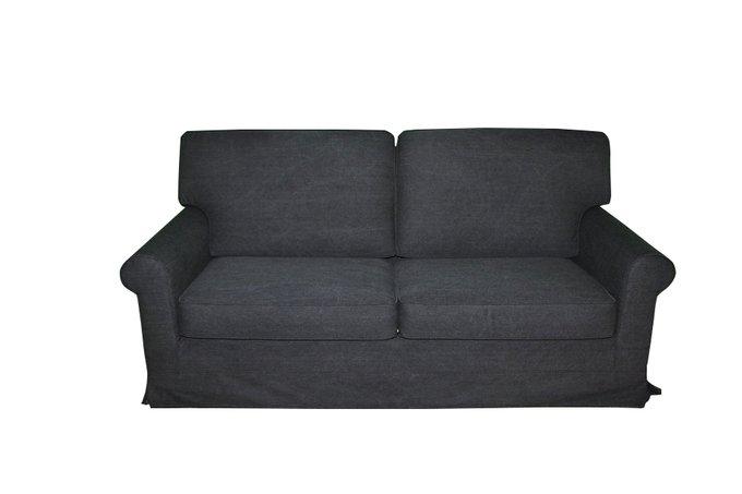 Прямой диван Фрэнк черного цвета