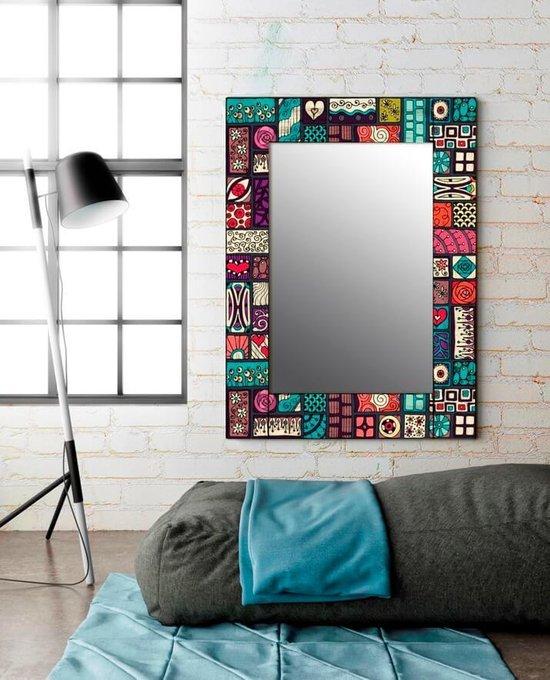 Настенное зеркало Остин в раме из массива сосны 55х55