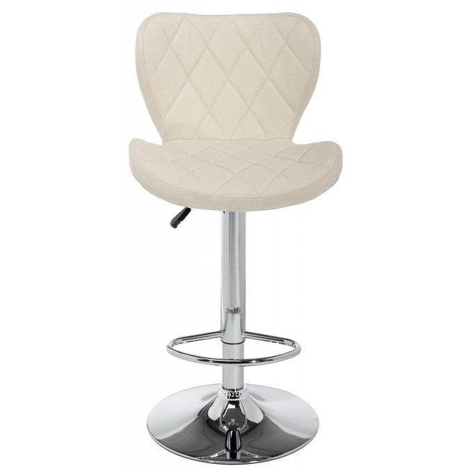 Барный стул Porch beige fabric с обивкой бежевого цвета