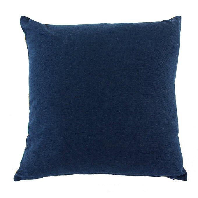 Чехол для подушки Lazy flower темно-синего цвета