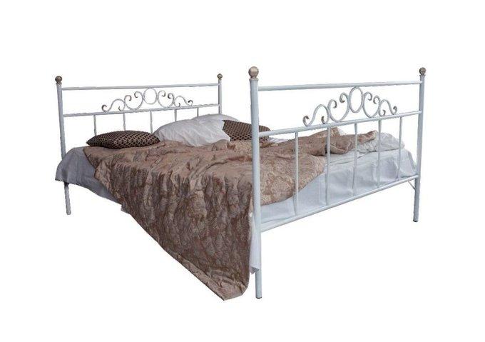 Кованая кровать Сандра 1.6 с двумя спинками 160х200