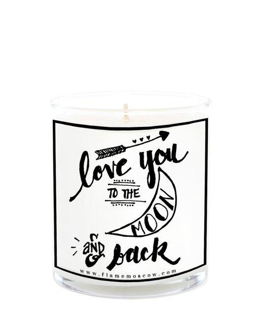 Ароматическая свеча Love you to the moon! из 100% кокосового воска