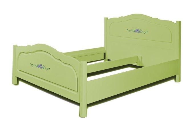 """Кровать """"Belle Fleur Olive"""" с ручной росписью 180х200"""