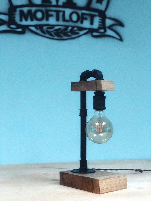 Настольный светильник в стиле лофт Soldier из стальных труб