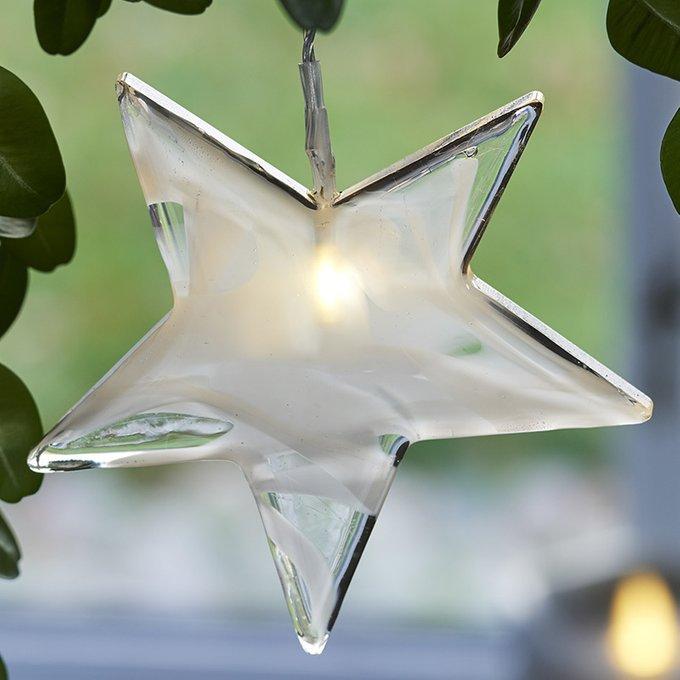 Подвесной декор с подсветкой и таймером Agnes из стекла