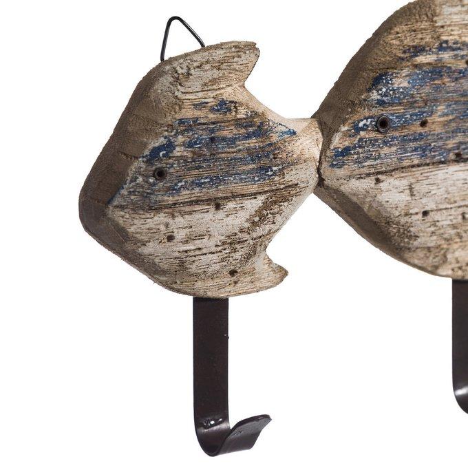 Вешалка настенная из дерева и металла