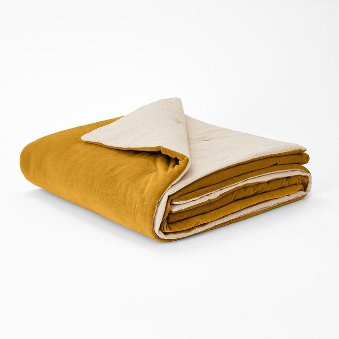 Покрывало Velvet из велюра желтого цвета 180x230