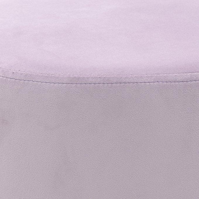 Пуф лилового цвета с металлическим основанием