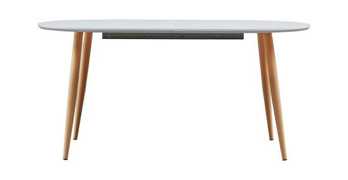 Раскладной обеденный стол с белой столешницей