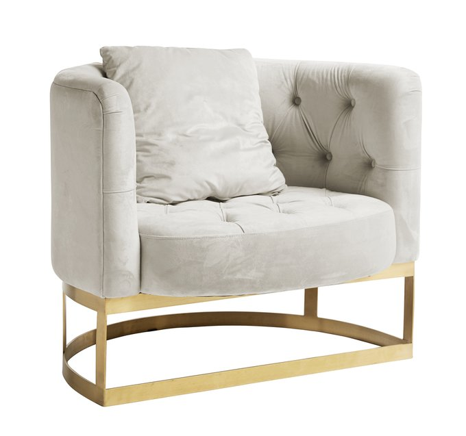 Кресло Lounge кремового цвета