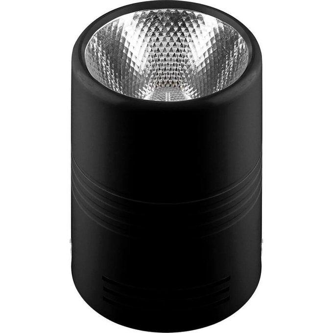 Потолочный светодиодный светильник из металла черного цвета