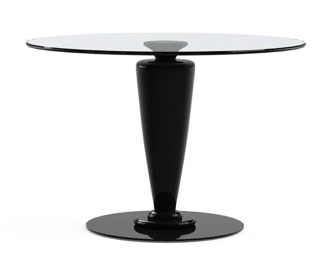"""Обеденный стол """"ABREGO Black"""" со столешницей из закаленного стекла"""