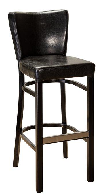 Барный стул Бергамо Люкс Black черного цвета