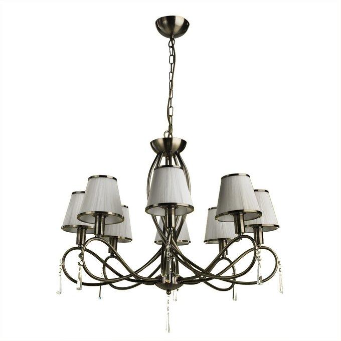 Подвесная люстра Arte Lamp Logico с белыми абажурами