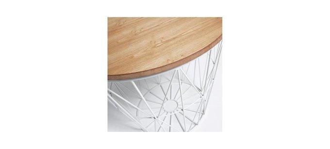 Журнальный столик Julia Grup Albern со столешницей из массива дерева