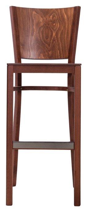 Барный стул Бергамо Орех из массива дерева