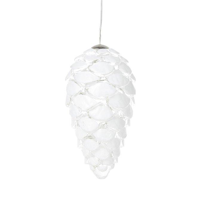 Светодиодная новогодняя игрушка Celina Cone белого цвета