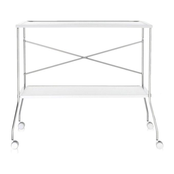 Сервировочный столик Flip белого цвета