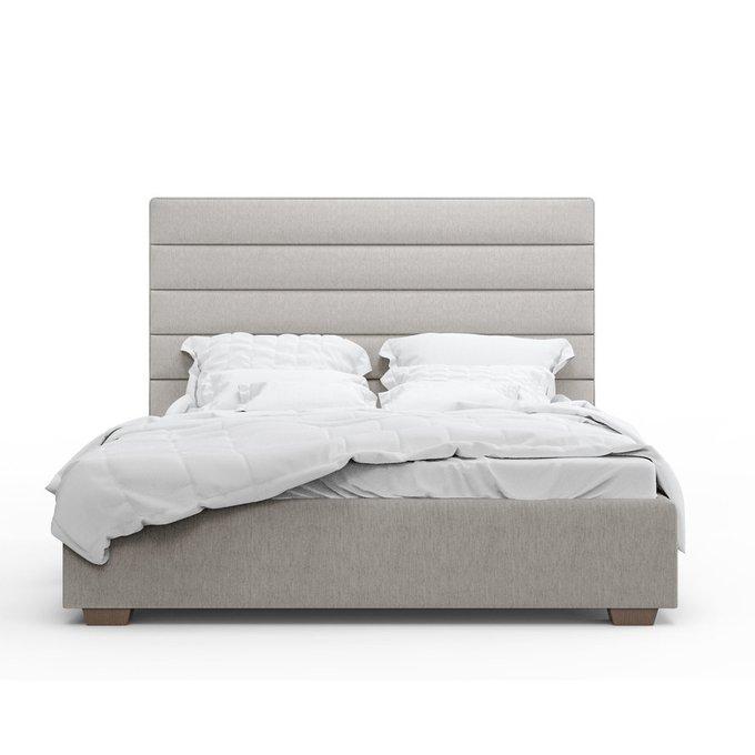 Кровать Джейси светло-серого цвета 160х200 с подъемным механизмом