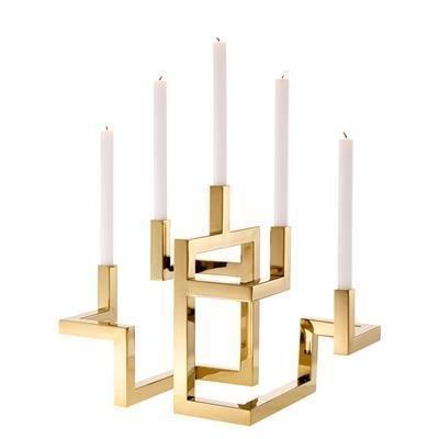 Подсвечник Candle Holder Skyline золотого цвета