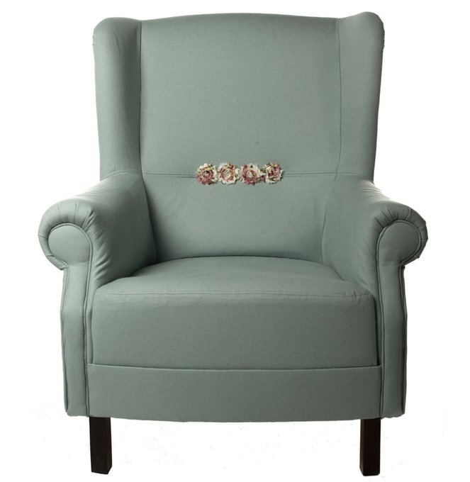 Кресло Розы Прованса голубого цвета