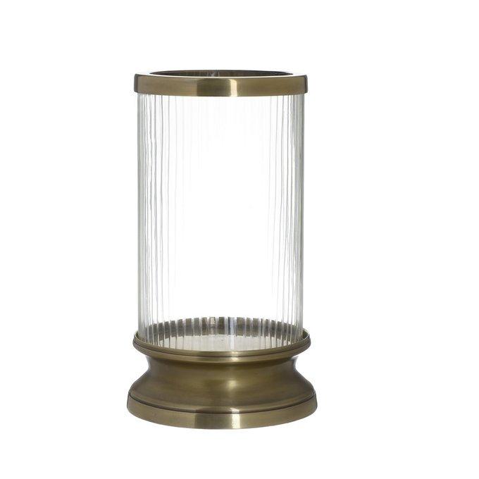 Подсвечник из металла и стекла