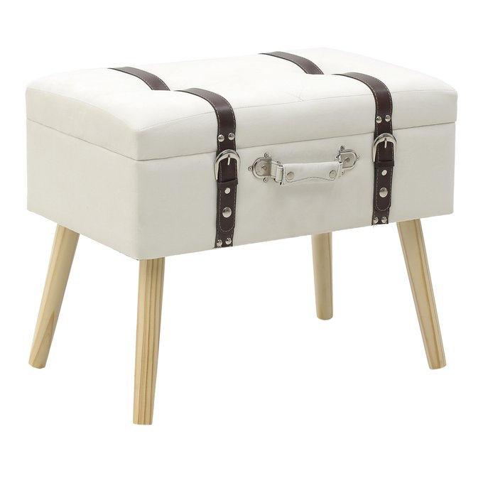 Пуф-чемодан на деревянных ножках