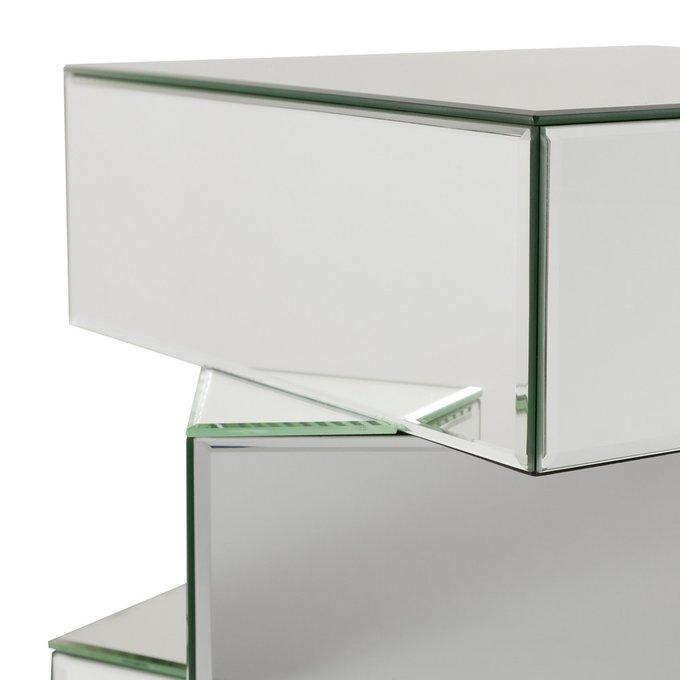 """Кофейный столик """"Beziers"""" полностью покрытый зеркальными панелями"""