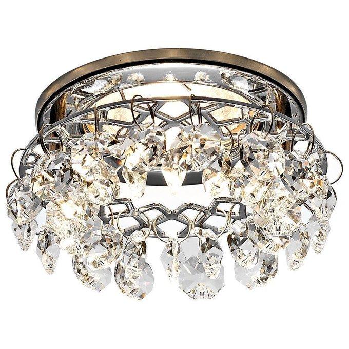 Встраиваемый светильник Crystal цвета хром