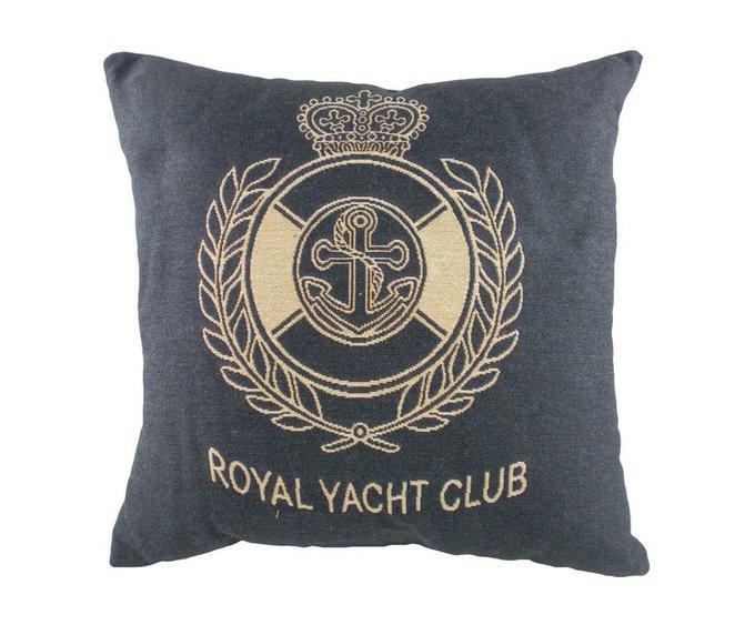 Подушка с надписью Royal Yacht Club Denim