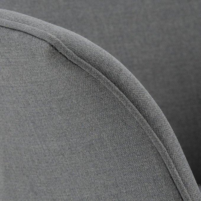 Обеденное винтажное кресло Quilda серого цвета