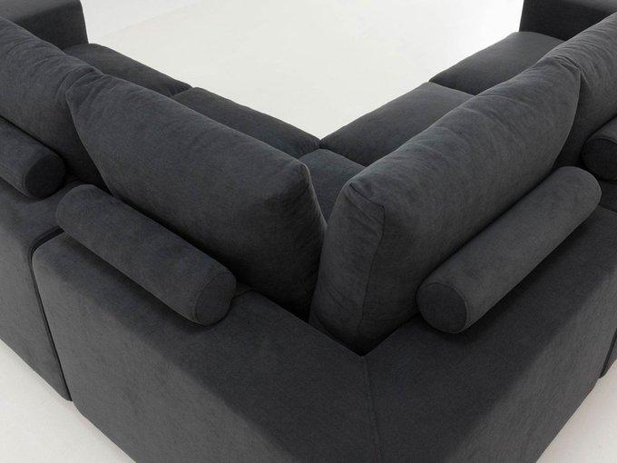 Угловой диван Канзас angolo черного цвета
