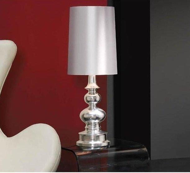 Настольная лампа Schuller Babylon с серебряным абажуром