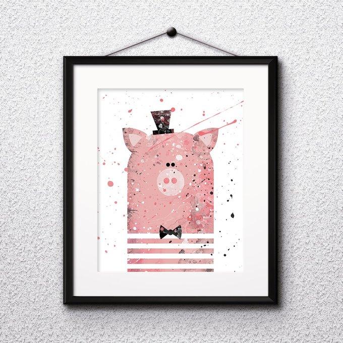 Постер Pig А4