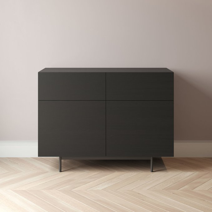 Комод Cube-3 150x45 черного цвета