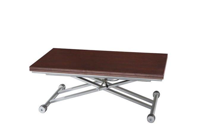 Раскладной журнально-обеденный стол цвета венге