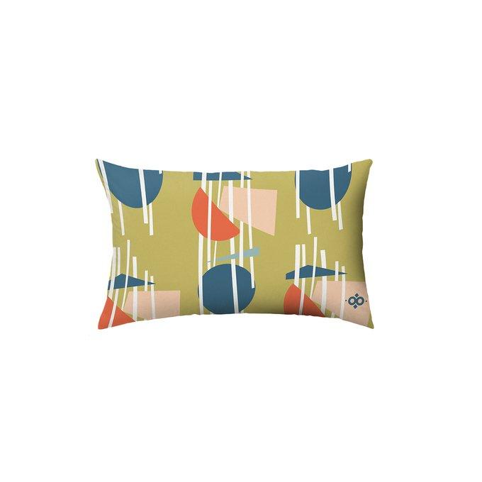 Декоративная подушка Geometry желто-горчичного цвета