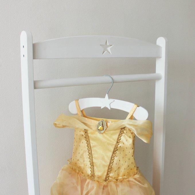 Детская вешалка-плечики белая со звездочкой