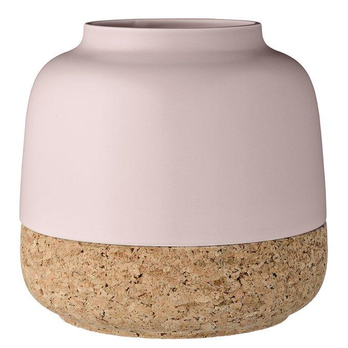 Ваза Pink из керамики и пробки