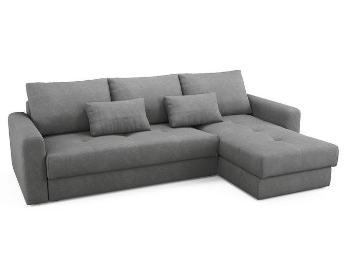 Угловой диван-кровать Ruiz серого цвета