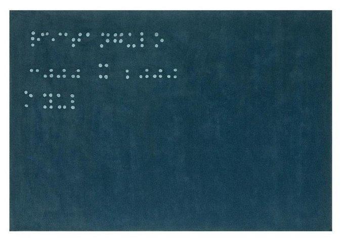 Ковер Braille синего цвета 200x300