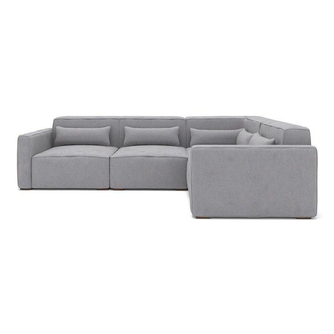 Модульный угловой диван Cubus серого цвета