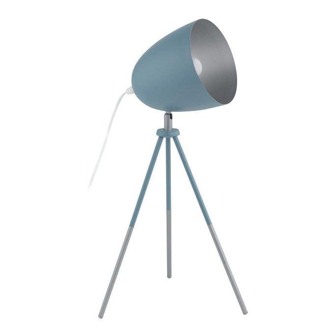 Настольная лампа Chester-P синего цвета